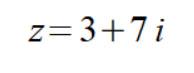 комплексное число в алгебраической форме